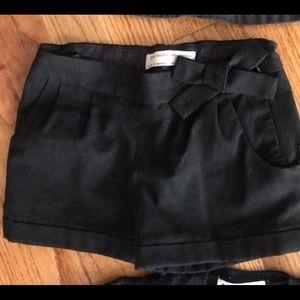 Black winter dress shorts